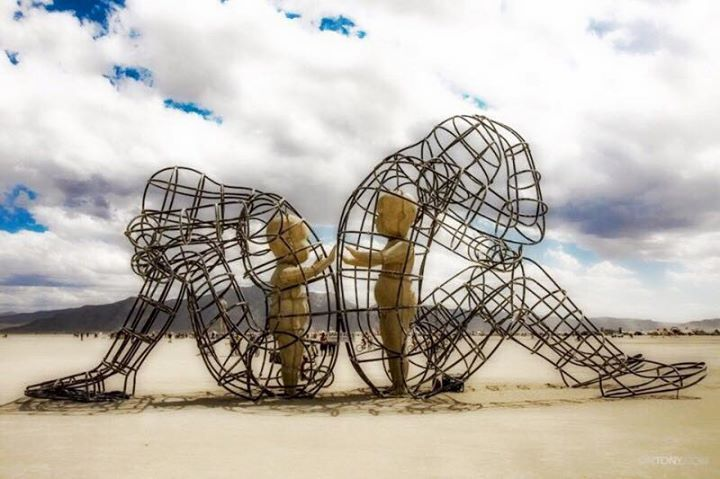 "Burning Man sculpture called ""Love"" by Alexandr Milov"