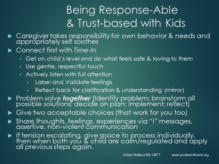 trust based responses